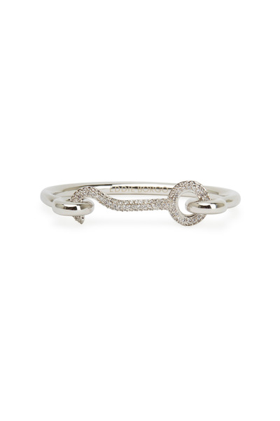 Eddie Borgo - Silver Plate Pavé-Set Crystal Door Latch Cuff