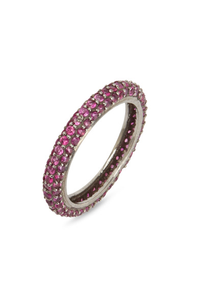 Loriann - Sterling Silver Ruby Band