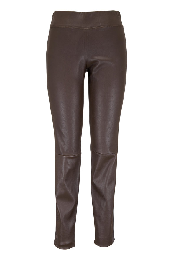 Brunello Cucinelli Espresso Leather Legging
