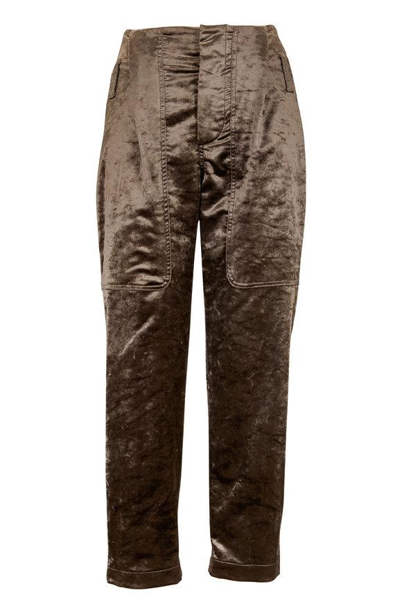 Brunello Cucinelli Mudd Velvet Utility Pant