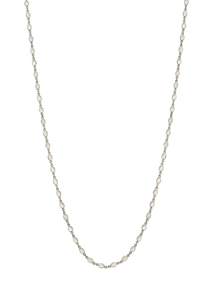 Loriann - Sterling Silver Moonstone Accessory Chain Necklace