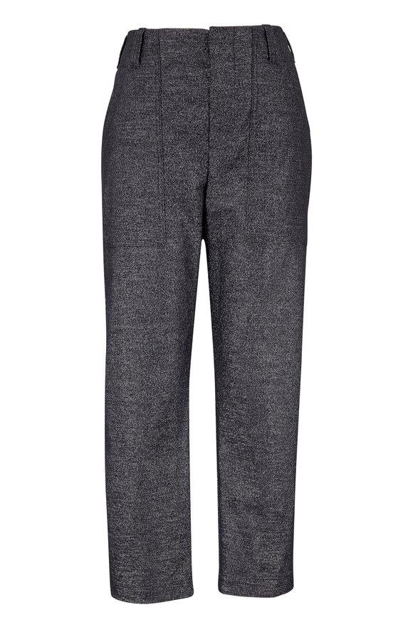 Brunello Cucinelli Silver Cotton Lurex Utility Pant