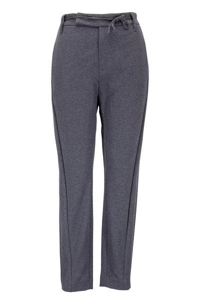 Brunello Cucinelli - Charcoal Gray Felpa Monili Tie Waist Pant