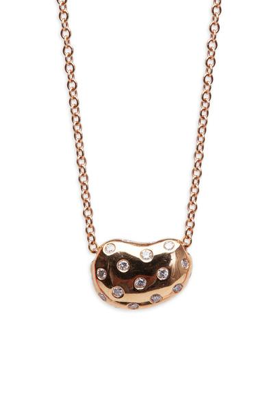 Paul Morelli - Pink Gold Sprinkled Pebble Diamond Pendant