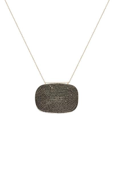 Tulah Jem - Rose Gold Pavé-Set Black Diamond Pendant
