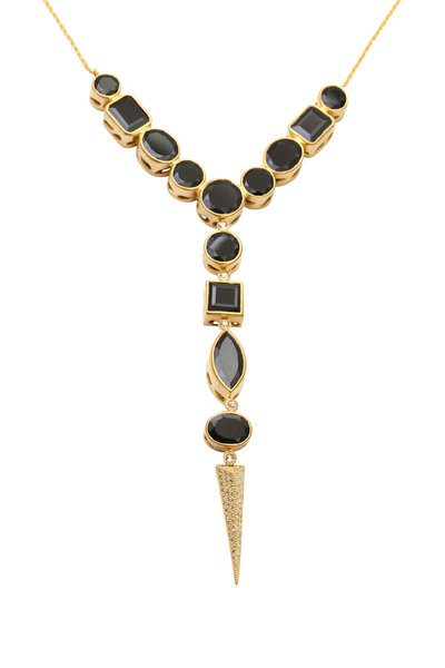 Coomi - 20K Yellow Gold Black Spinal & Diamond Necklace