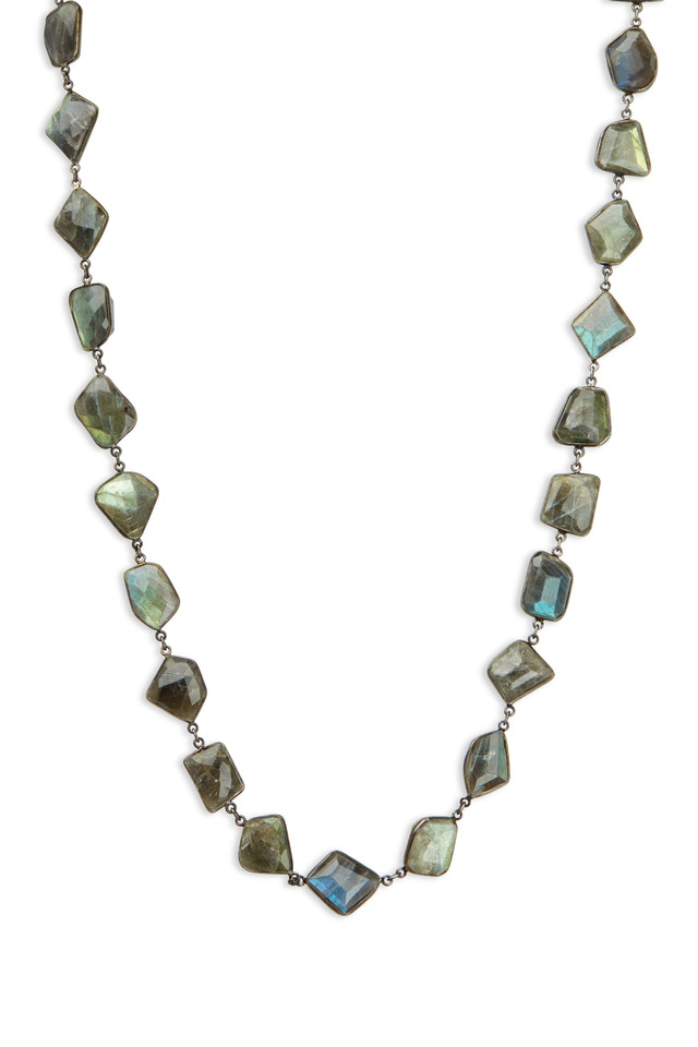 Sterling Silver Labradorite Accessory Necklace