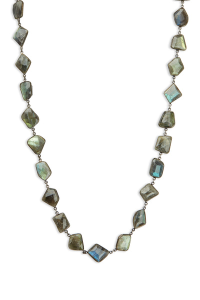 Loriann - Sterling Silver Labradorite Accessory Necklace