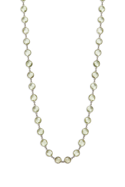 Loriann - Sterling Silver Amethyst Accessory Chain Necklace