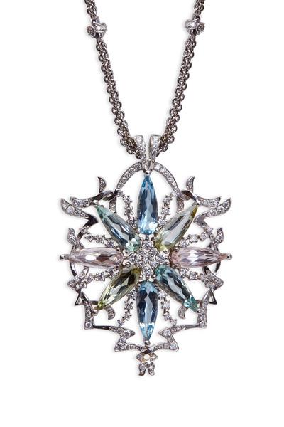 Paul Morelli - Gold Pastel Gemstone Diamond Pendant