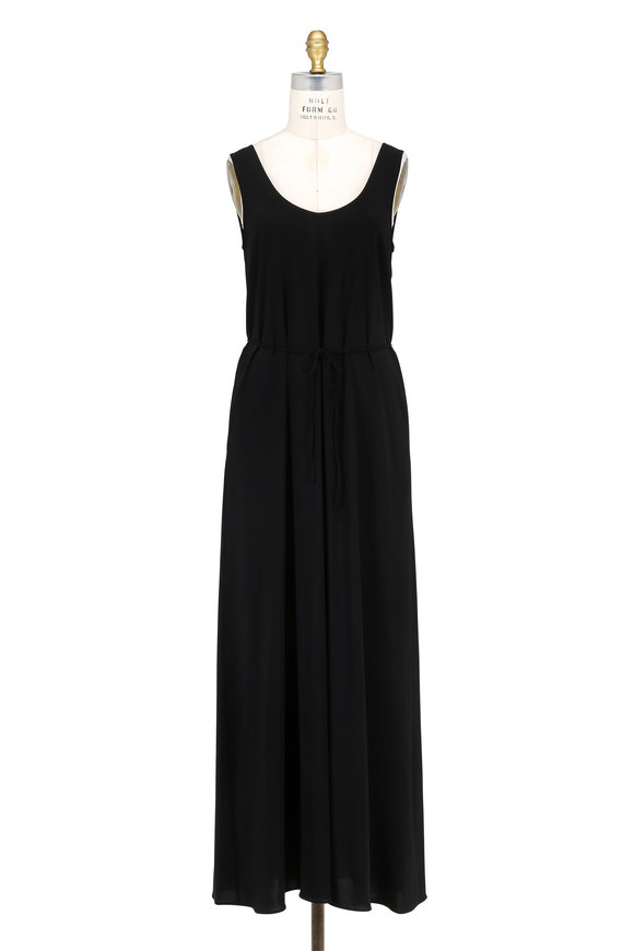 Vince Black Wrap Back Sleeveless Dress