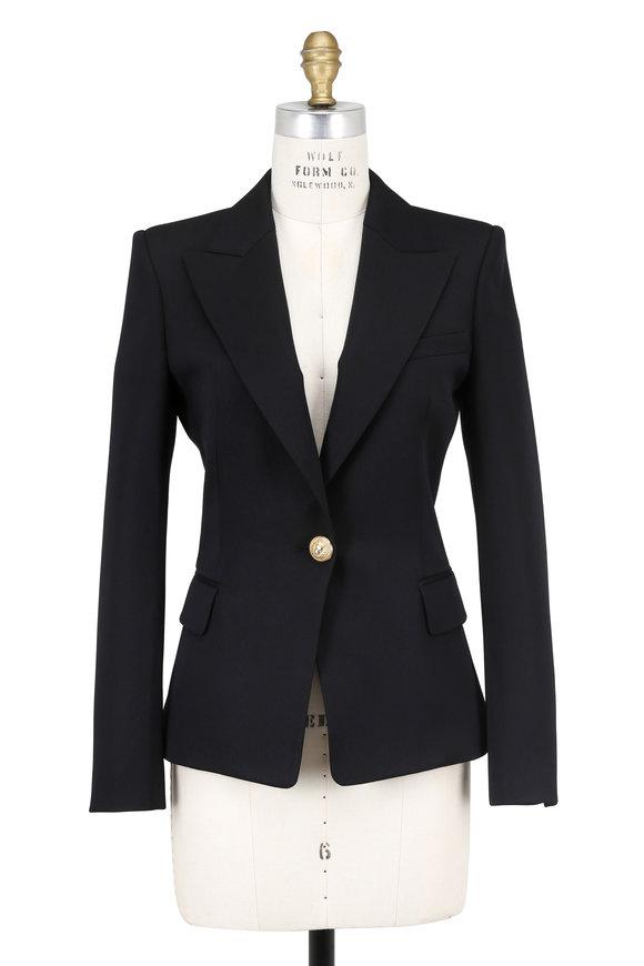 Balmain Black Wool Single Button Blazer