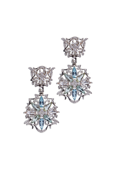 Paul Morelli - Gold Pastel Gemstone Diamond Dangle Earrings
