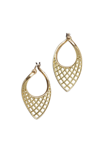 Paul Morelli - Spiral Mesh Yellow Gold Small Twist Earrings