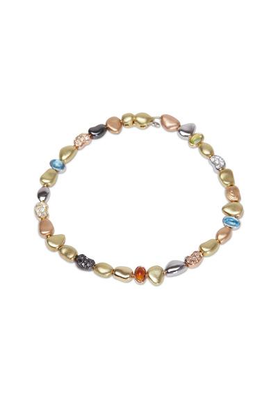 Paul Morelli - White Gold Black, White & Cognac Diamond Bracelet