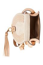 Chloé - Marcie Nude Leather Saddle Mini Crossbody Bag