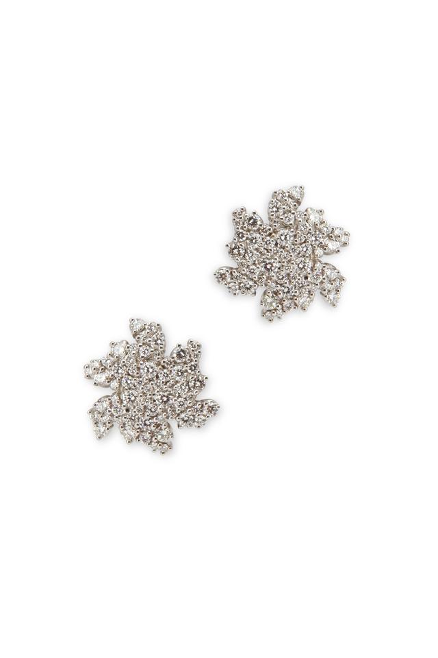 White Gold Small Confetti Clip Diamond Earrings