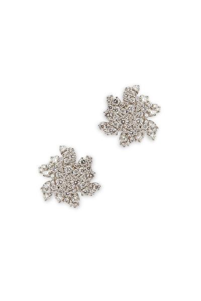 Paul Morelli - White Gold Small Confetti Clip Diamond Earrings