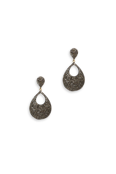 Loriann - Gold & Silver White Diamond Dangle Earrings