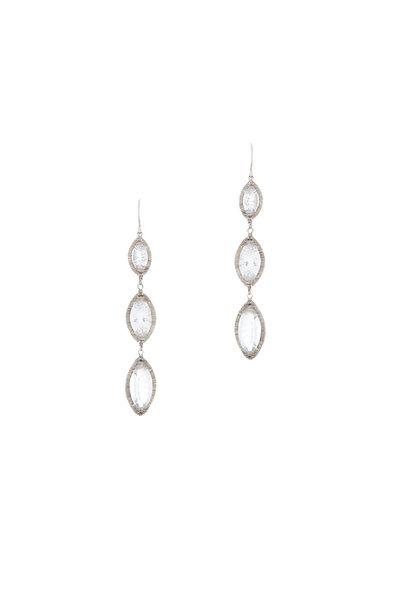 Dana Kellin - Silver White Topaz Drop Earrings