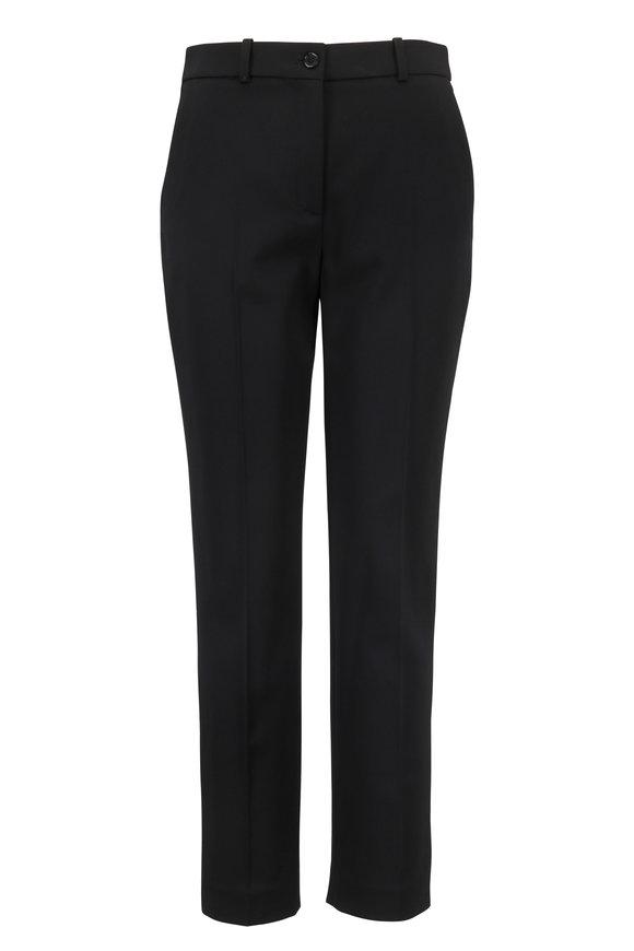 Michael Kors Collection Samantha Black Stretch Wool Pant