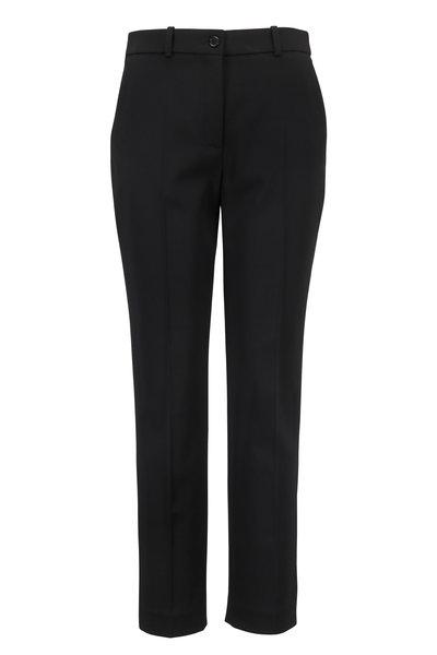 Michael Kors Collection - Samantha Black Stretch Wool Pant