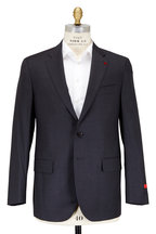 Isaia - Aquaspider Charcoal Gray Performance Wool Suit