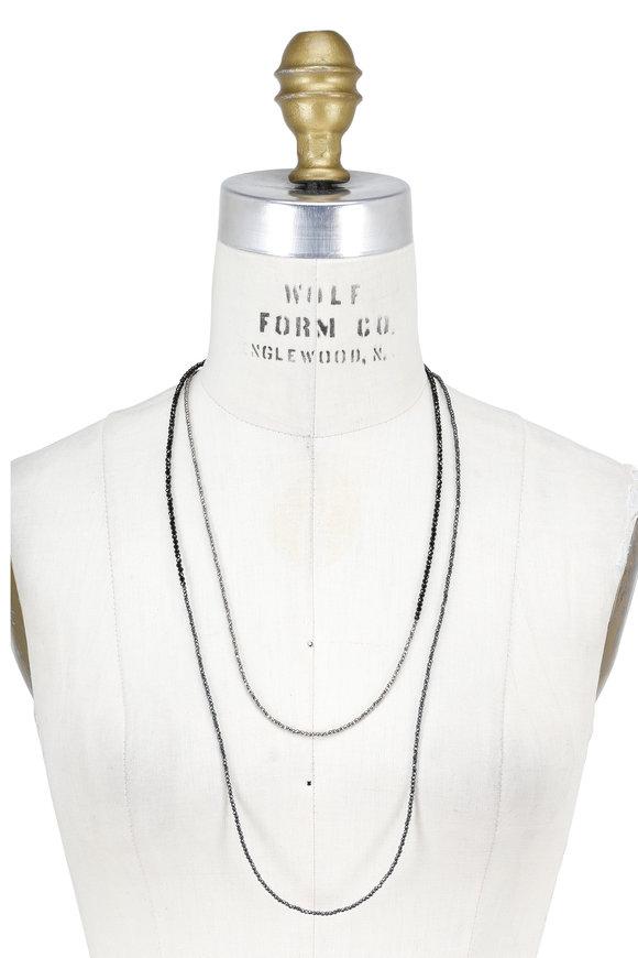 Brunello Cucinelli Black & Silver Ematite Convertible Wrap Necklace