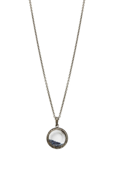 Loriann - Gold & Silver Blue Diamond Shake Necklace