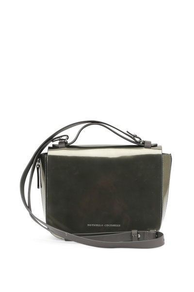 Brunello Cucinelli - Military Patent Leather Convertible Shoulder Bag