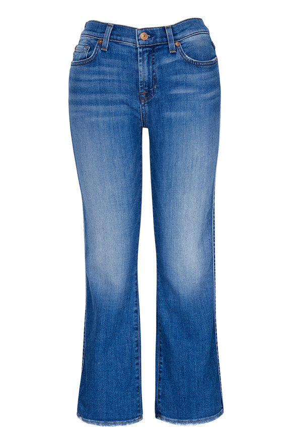 7 For All Mankind Crop Kick Flare Jean
