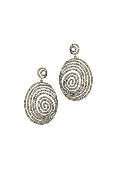 Loriann - Sunny Gold Emerald Cognac Diamond Earrings