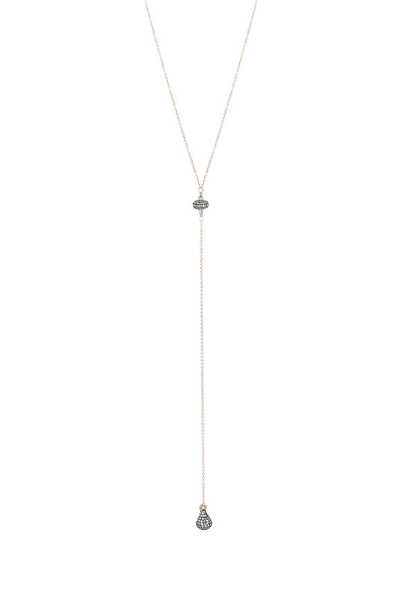 Dana Kellin 14K Yellow Gold Labradorite & Diamond Necklace