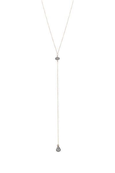 Dana Kellin - 14K Yellow Gold Labradorite & Diamond Necklace