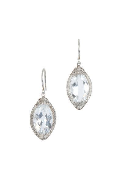Dana Kellin - Sterling Silver White Topaz Earrings