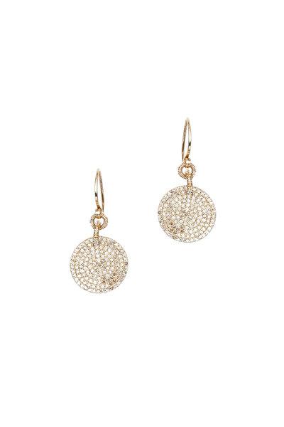 Dana Kellin - 14K Yellow Gold Diamond Circle Earrings