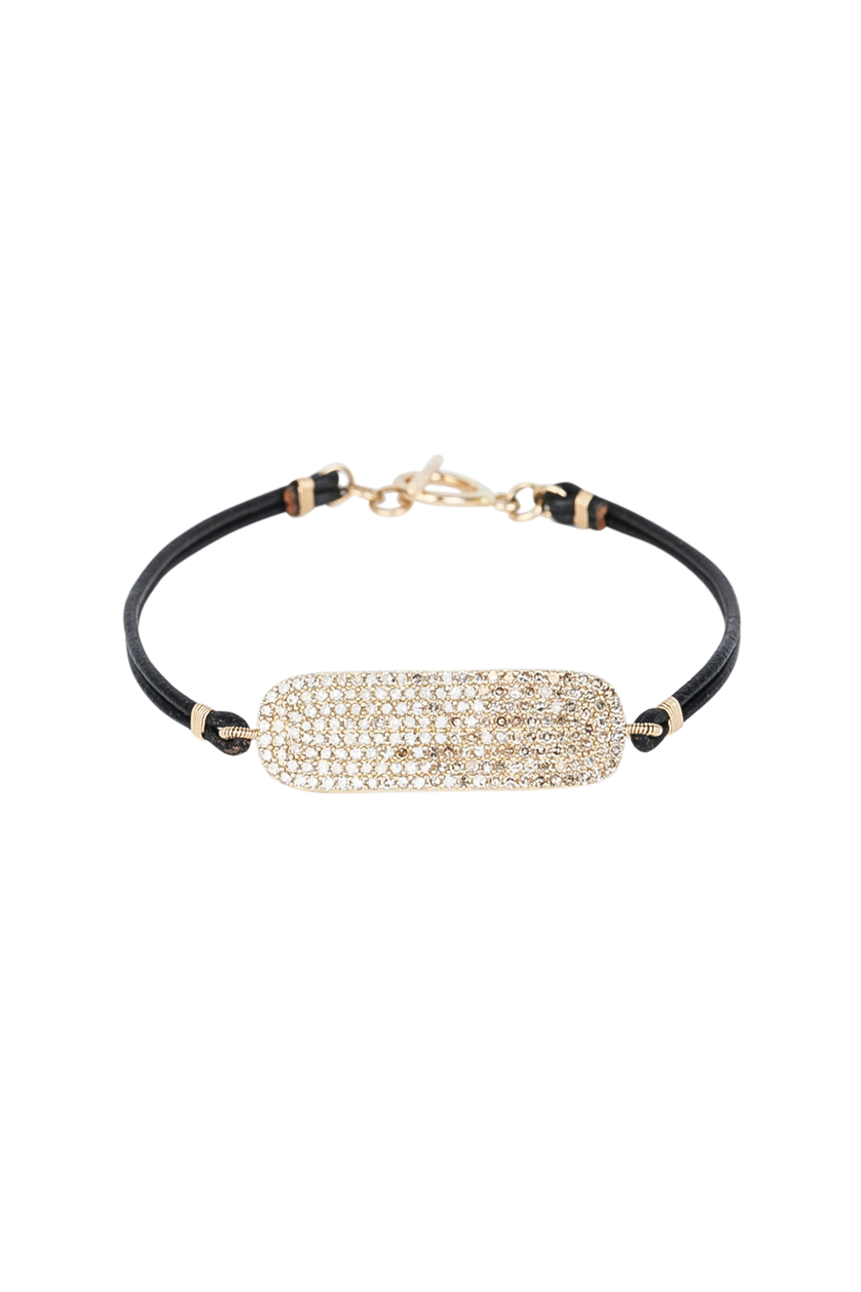 Dana Kellin 14k Yellow Gold Diamond Tag Bracelet