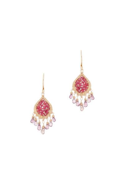 Dana Kellin - 14K Yellow Gold Ruby Dangle Earrings