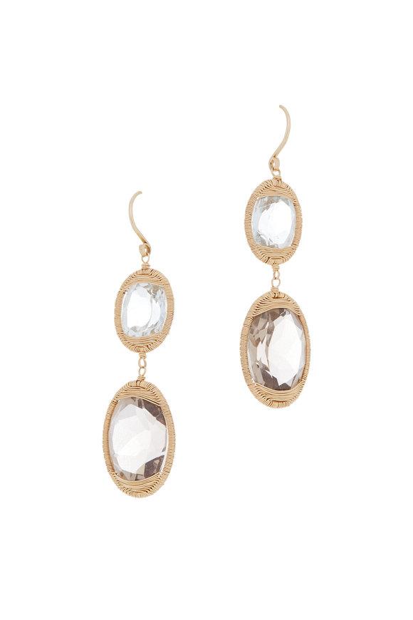 Dana Kellin 14K Yellow Gold Topaz Drop Earrings