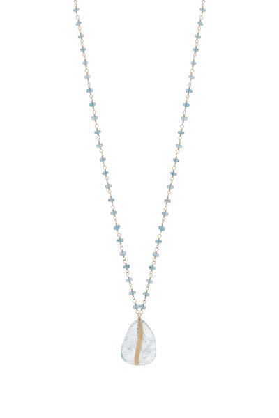 Dana Kellin - 14K Gold Aquamarine & Kynite Pendant Necklace