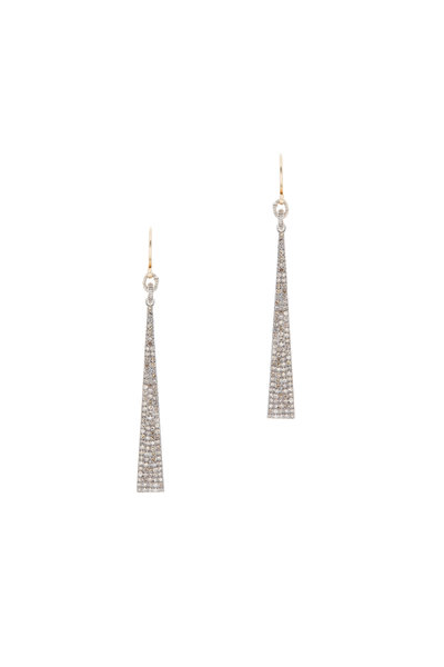 Dana Kellin - 14K Yellow Gold Pavé Diamond Long Earrings