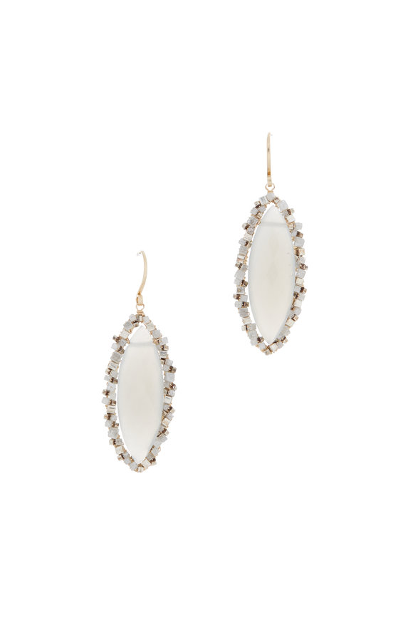 Dana Kellin 14K Yellow Gold Diamond & Stone Dangle Earrings