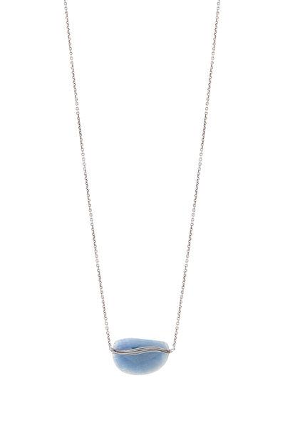 Dana Kellin - Sterling Silver Blue Sapphire Pendant Necklace