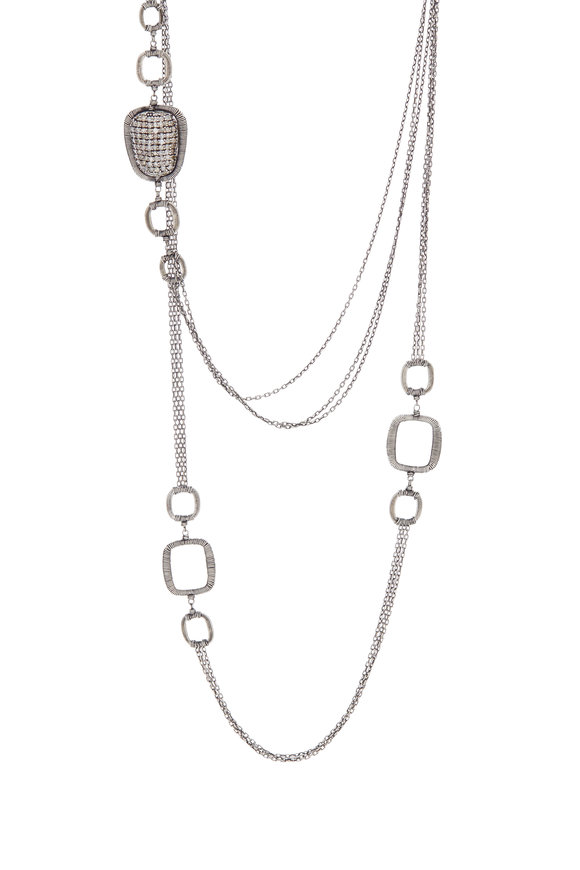 Dana Kellin Sterling Silver Pavé Diamond Chain