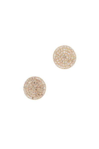 Dana Kellin - 14K Gold Pavé Diamond Circle Studs