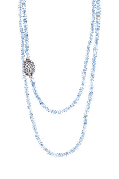 Dana Kellin - 14K Gold Kynite & Diamond Bead Necklace