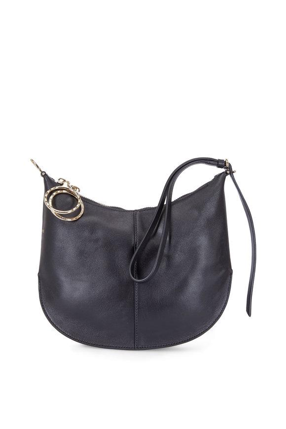Nina Ricci Kuti Black Leather Wristlet Clutch