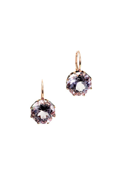 Sylva & Cie - 18K Rose Gold Amethyst Earrings
