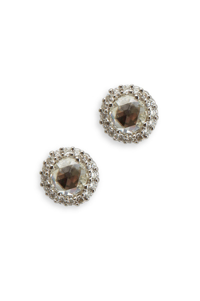 Paul Morelli - White Gold Rose-Cut Diamond Stud Earrings