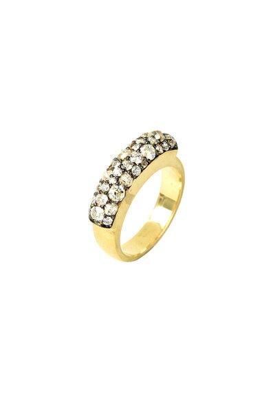 Sylva & Cie - 18K Yellow Gold Diamond Saddle Ring